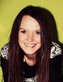 Bild von Michelle Steinbrechers Gesicht auf grünem Hintergrund