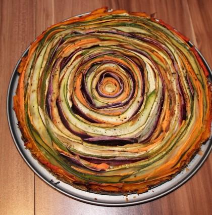 Bunte Gemüse- Spiralquiche